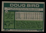 1977 Topps #556  Doug Bird  Back Thumbnail