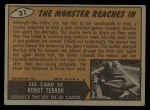 1962 Mars Attacks #31   The Monster Reaches In  Back Thumbnail