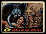 1962 Mars Attacks #29   Death in the Shelter Front Thumbnail