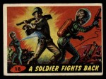 1962 Topps / Bubbles Inc Mars Attacks #18   Soldier Fights Back  Front Thumbnail