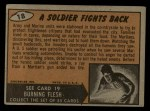 1962 Mars Attacks #18   Soldier Fights Back  Back Thumbnail