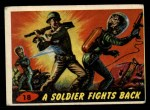 1962 Mars Attacks #18   Soldier Fights Back  Front Thumbnail
