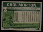 1977 Topps #24  Carl Morton  Back Thumbnail