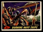 1962 Mars Attacks #6   Burning Navy Ships  Front Thumbnail