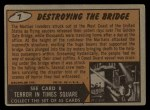 1962 Mars Attacks #7   Destroying the Bridge  Back Thumbnail