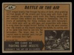 1962 Bubbles Inc Mars Attacks #44   Battle in the Air  Back Thumbnail