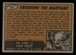 1962 Bubbles Inc Mars Attacks #51   Crushing the Martians  Back Thumbnail