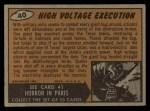 1962 Bubbles Inc Mars Attacks #40   High Voltage Execution Back Thumbnail