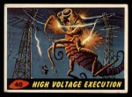 1962 Bubbles Inc Mars Attacks #40   High Voltage Execution Front Thumbnail