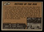 1962 Topps / Bubbles Inc Mars Attacks #38   Victims of the Bug  Back Thumbnail