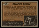 1962 Bubbles Inc Mars Attacks #37   Creeping Menace Back Thumbnail