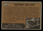 1962 Bubbles Inc Mars Attacks #11   Destroy the City Back Thumbnail