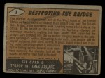1962 Topps / Bubbles Inc Mars Attacks #7   Destroying the Bridge  Back Thumbnail