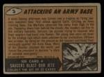 1962 Topps / Bubbles Inc Mars Attacks #3   Attacking an Army Base Back Thumbnail