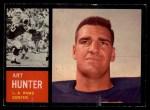 1962 Topps #84  Art Hunter  Front Thumbnail
