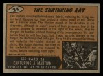 1962 Topps / Bubbles Inc Mars Attacks #24   The Shrinking Ray  Back Thumbnail