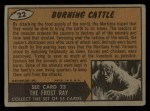 1962 Topps / Bubbles Inc Mars Attacks #22   Burning Cattle Back Thumbnail