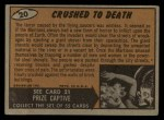 1962 Bubbles Inc Mars Attacks #20   Crushed to Death  Back Thumbnail