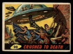 1962 Mars Attacks #20   Crushed to Death  Front Thumbnail
