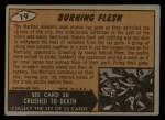 1962 Bubbles Inc Mars Attacks #19   Burning Flesh Back Thumbnail