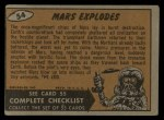 1962 Mars Attacks #54   Mars Explodes  Back Thumbnail