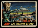 1962 Topps / Bubbles Inc Mars Attacks #1   The Invasion Begins  Front Thumbnail
