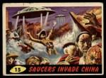 1962 Bubbles Inc Mars Attacks #15   Saucers Invade China  Front Thumbnail