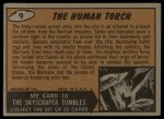 1962 Bubbles Inc Mars Attacks #9   The Human Torch Back Thumbnail