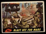 1962 Topps / Bubbles Inc Mars Attacks #46   Blast Off for Mars  Front Thumbnail