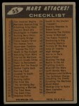 1962 Bubbles Inc Mars Attacks #55   Checklist  Back Thumbnail