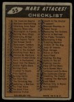 1962 Mars Attacks #55   Checklist  Back Thumbnail