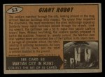 1962 Mars Attacks #52   Giant Robot  Back Thumbnail