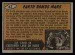 1962 Topps / Bubbles Inc Mars Attacks #47   Earth Bombs Mars  Back Thumbnail