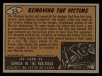 1962 Topps / Bubbles Inc Mars Attacks #33   Removing the Victims  Back Thumbnail