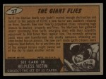 1962 Topps / Bubbles Inc Mars Attacks #27   The Giant Flies  Back Thumbnail