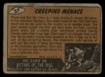 1962 Topps / Bubbles Inc Mars Attacks #37   Creeping Menace Back Thumbnail
