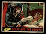 1962 Mars Attacks #17   Beast and the Beauty  Front Thumbnail