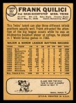 1968 Topps #557  Frank Quilici  Back Thumbnail