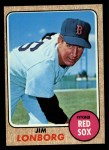 1968 Topps #460  Jim Lonborg  Front Thumbnail