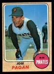1968 Topps #482  Jose Pagan  Front Thumbnail