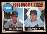 1968 Topps #589   -  Ron Clark / Moe Ogier Twins Rookies Front Thumbnail