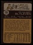 1973 Topps #199  Bert Blyleven  Back Thumbnail
