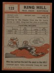 1962 Topps #123  King Hill  Back Thumbnail