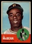 1963 Topps #387 WHT Al McBean  Front Thumbnail