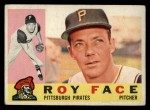 1960 Topps #20  Roy Face  Front Thumbnail