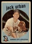 1959 Topps #18  Jack Urban  Front Thumbnail
