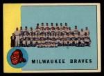 1963 Topps #503   Braves Team Front Thumbnail