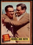 1962 Topps #140 NRM Babe Ruth / Lou Gehrig  Front Thumbnail