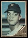 1962 Topps #252  Earl Francis  Front Thumbnail