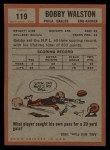 1962 Topps #119  Bob Walston  Back Thumbnail